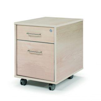 Buc cajón + archivo con ruedas, melamina