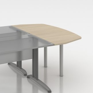 Extensión semicircular para mesas enfrentadas